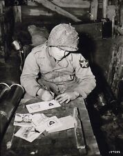 WW2 Photo WWII US Soldier Christmas Cards US Army 2nd ID World War Two / 1546