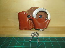 Smith & Wesson M-100 Handcuffs w/ 2 Keys and Leather Gould & Goodrich Case 841-4
