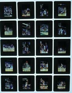 JTM3-6 1989 NBA Milwaukee Bucks Bad Boys Detroit Pistons (57pc) ORIG 35mm Slides