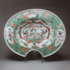 Antique Chinese Porcelaine famille verte Barber's Bowl, Kangxi (1662-1722)