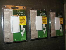 """ Lot of 3 "" Lutron Diva Dimmable CFL / LED Dimmer Switches DVCL-153PH-WH White"