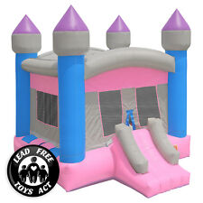 Commercial Bounce House 100% PVC Inflatable Princess Castle and Blower - Girls