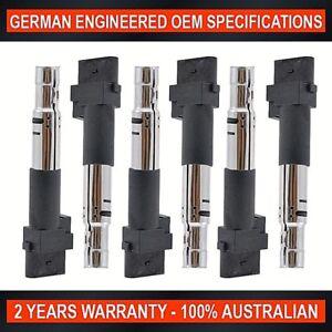 6 x Ignition Coil for Volkswagen EOS Golf Transporter Touareg Passat 3.2L V6