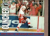 GREAT MOMENTS DARREN McCARTY CLINCHER News DETROIT RED WINGS 8x10 Collect Card!