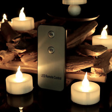 12 Pcs Moving Wick Led Flameless Candles W/ Remote Control Timer No Tax