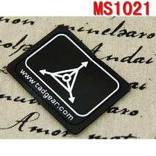 Outdoor Sports Tactical Black TAD Gear Design Triple Aught Magic Patches Paste