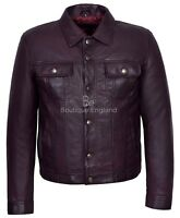 TRUCKER Men's Cherry Classic Western Real Soft Genuine Leather Jacket Shirt 1280