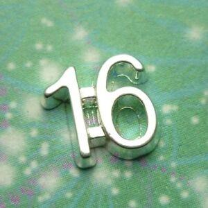 16 Number Charm for Floating Locket Pendants - Big Size