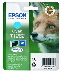 Genuine Epson T1282 Ink Cartridges Cyan - Brand New