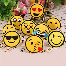 8pcs Funny  Smile Face DIY Applique Embroidered Sew Iron on Patch WK