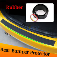 Car Black Rear Boot Bumper Sill Protector Plate Rubber Cover Guard Trim Strip