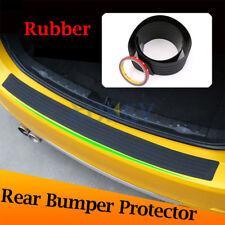 Car Black Rear Boot Bumper Sill Protector Plate Rubber Cover Guard Trim Strip