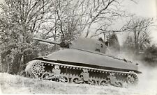 Original Press Photo WW2 American M4 Sherman tank undated