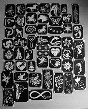 bm2017-setA of 50 different stencils plus 6 free glitters glitter tattoo L@@K