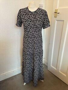Topshop Black & White Floral Maxi Maternity Dress Size 8