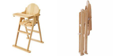 East Coast Folding Highchair (natural All Wood)