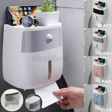 Waterproof Wall-Mount Bathroom Toilet Paper Roll Box Tissue Holder with Drawer