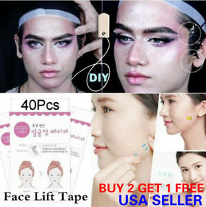 40PCS Set Instant Face Lift Tape Neck Eye Lift V Line Shape Tape Anti Wrinkle