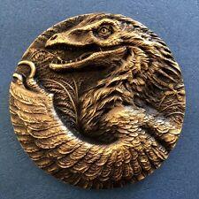2016 Prehistoric Animals Chinese Bird Lizard Brass Coin Medal 50mm ,Seal