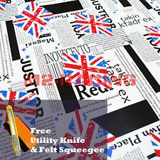 "*60""x600"" Union Jack UK Flag StickerBomb Vinyl Decal Sticker Wrap Sheet Film"