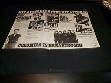 Beastie Boys/Springsteen/Dave Edmunds Rare Original Radio Promo Poster Ad Framed