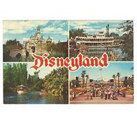 Disneyland Vintage Postcard MultiView of Attractions in Each Land circa 1967