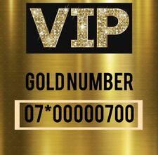 GOLD PLATINUM DIAMOND VIP UNIQUE MEMORABLE MOBILE PHONE NUMBER