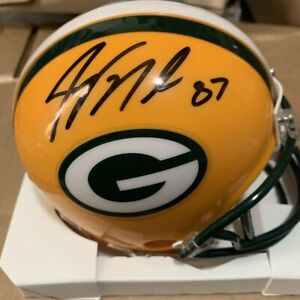 Jordy Nelson Green Bay Packers signed autographed Mini Helmet