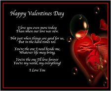 Happy Valentines Day Poem Birthday Valentines Day Gift Present