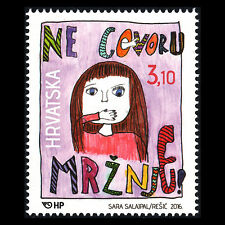 Croatia 2016 - Say no to hate speech! Animation Art - MNH