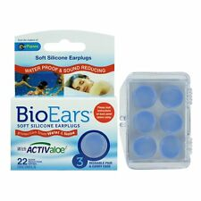 BioEars Soft Silicone Ear Plugs Protection - 3 Pairs - Swimming ear plugs