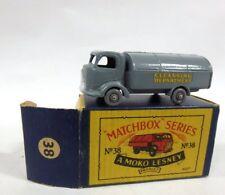 MINT IN BOX VINTAGE Matchbox Moko Lesney Karrier Refuse Truck No: 38 GREY WHEELS