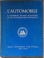 L'AUTOMOBILE Roma 1938 G. Canestrini libro Reale Automobile Club d'Italia