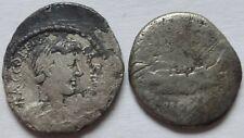 Lot of two Roman Silver Denarius.    476