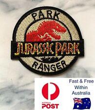 Jurassic Park Ranger Patch Iron On Logo Movie Dress Up Dinosaur Badge Costume