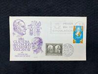 Postal History Spain Scott #1333 FDC Vatican II 1965 Madrid #433 Dual Cancel