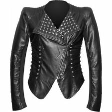 Queen of Darkness High Collar Black faux Leather Gothic Victorian Elegant Jacket