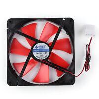 140mm 4 Pin Speed Adjustable Silent PC Case Cooling Fan CPU Cooler Fan 12V AU