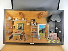Large Diorama 3D Box European Austria Kitchen Scene Wood Primitive Wall Art #7