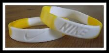 Nike White Yellow Elite Baller band rubber bracelet wristband tie dye RARE