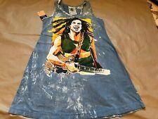 Bob Marley Printed Distressed Tunic 'No Time' Thailand Cotton Reggae Hippie Tee