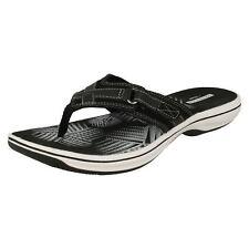 4682f1d8863cbd Clarks Women s Brinkley Sea Toe Post Sandals Tw4 Black Size UK 8 US 10.5w