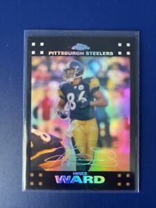 2007 Topps Chrome Refractors Pittsburgh Steelers Football Card #TC84 Hines Ward