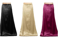 Indian Saree Petticoat Underskirt Satin Silk Bollywood Lining belly dancing slip