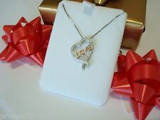 Kay Jewelers Open Heart Rose Gold LOVE Diamonds Necklace Valentines Day Gift