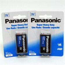 4pcs 9V Panasonic Super Heavy Duty Batteries - 4 x 1 pack