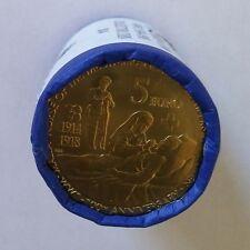 2014 Malta 5 Euro Wwi 100th Anniversary. roll x 20 coins. Unc