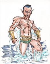 Prince Namor the Sub Mariner Original Marvel Comic Art Sketch
