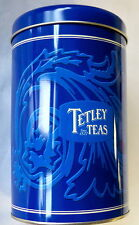 LIMITED EDITION * TETLEY TEAS Since 1837 TEA CANISTER / vintage logo new tin can
