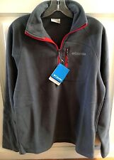 Columbia Men's Fast Trek III Half Zip Fleece Pullover Jacket Gray XM6410 Small